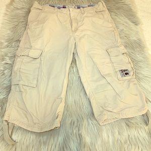 Buffalo David Bitton Cargo Bermudas/Cropped Pants